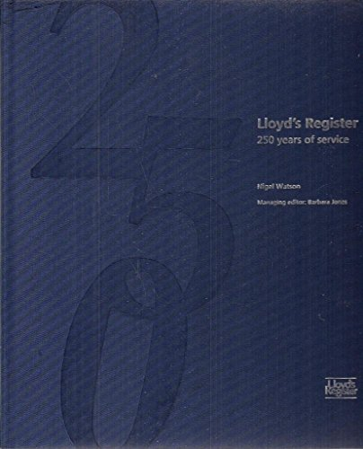 Lloyds Register, 250 years of service