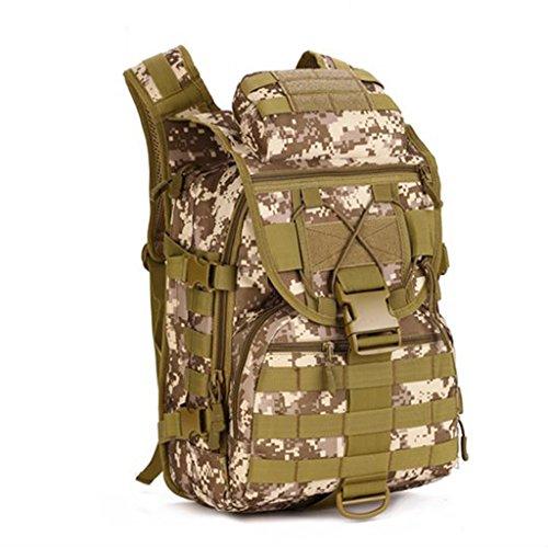 Generic Uomo Zaino Militare Tattico Campeggio Escursione Trekking Borsa Sport - Marrone Camo 1