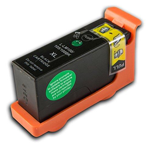 Preisvergleich Produktbild 1 Lexmark L-100/L-108 XL Schwarz (passt auch für L105/LM105) kompatible Tintenpatrone für Lexmark Platinum PRO 905 Drucker von 'The Ink Squid' - 1 x L-100/L-108 XL Schwarz (19ml)