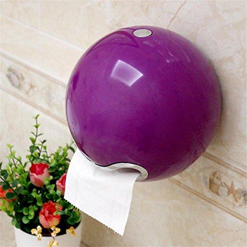 TOYM- Kreative Saugertoilettenpapier -Boxen gezogen Karton Freie Stempelhalter Toilettenpapierhalter ( farbe : Lila )