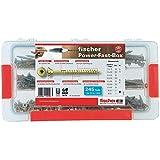 Fischer 542318 Power-Fast Schrauben-Sortimentsbox, Ø 3,5 mm - Ø 5 mm, 245 Teile