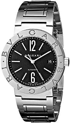 Bvlgari bvlbb38bssdauton negro Dial reloj de la mujer