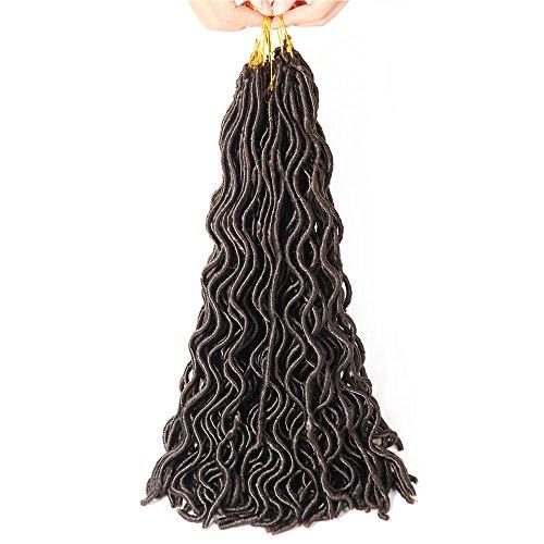 Wavy imitation Locs Lo8loc910256paquets 50,8cm Crochet tresses bouclés imitation Locs Lo8loc91025synthétique Fibre Kanekalon tresser Cheveux doux Dread Locks Havana Mambo Twist Extensions de cheveux