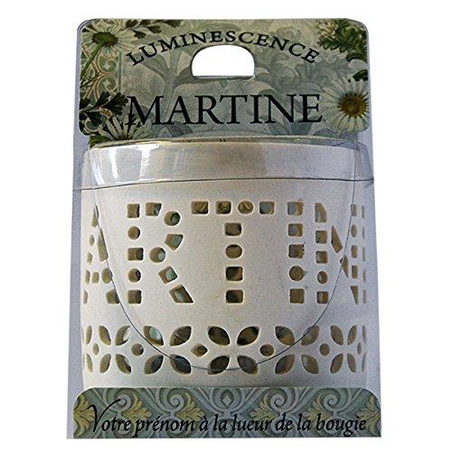 La Carterie 76009086 MARTINE Photophore à bougie chauffe-plat Porcelaine Blanc 11,1 x 7 x 7 cm