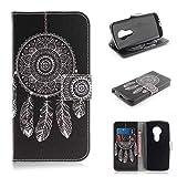 COWX Leder Kreditkarten Brieftasche Handy Schutzhülle für Motorola Moto E5 Play Hülle Tasche Flip Case (TXM03)