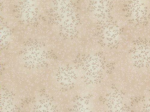Timeless Treasures Weiden Tonal Leaf Popeline Quilting Stoff beige-Pro Fat Quarter + Gratis Minerva Crafts Craft Guide -