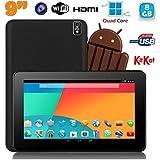 Tablette tactile 9 pouces Android 4.4 Bluetooth Quad Core 8Go Noir