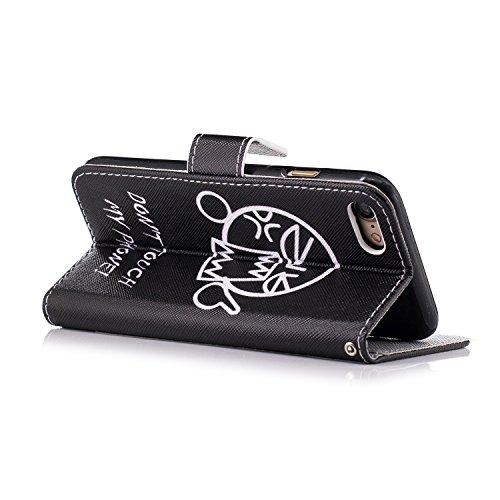 Coque Housse Etui iPhone 7 Cuir PU - Aeeque® Coque à Rabat Fonction Portefeuille de Carte Slots Support Bouton Magnétique Case Housse Cover Coque iPhone 7 4.7 pouce [Plumes de Campanula] Motif #21