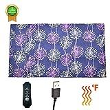 Gecorid Elektrisches Heizkissen für Haustiere, Elektrische Erwärmung Matte für Hund und Katze USB Timing Anti-Kratz-Care Blanket Heizmatte