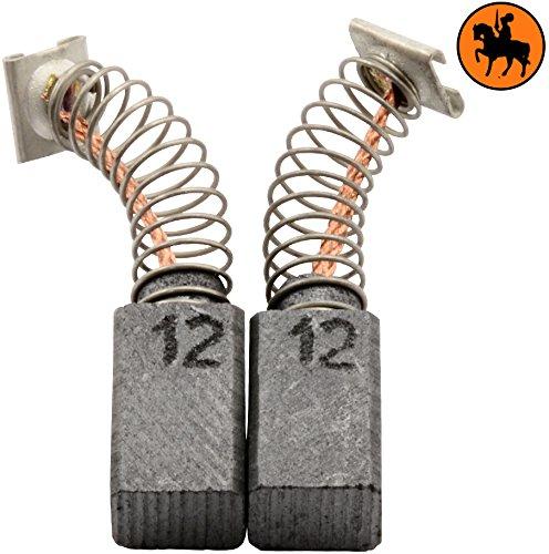 Buildalot Specialty Kohlebürsten ca-17-46003 für Hitachi Hammer DMT-13A - 6,5x7,5x12mm - Mit Automatischer Abschaltung, Federn, Kabel und Stecker - Ersatz für Originalteile 999041, 999072 & 999080 - 13a-stecker