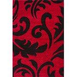 """Sona-Lux diseño de Alfombras tejidas a mano moderno rojo """"Seleccionar el tamaño"""" 200 x 290 cm"""