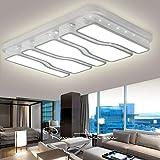 VWANT LED Deckenlampe Deckenleuchte Weiß-78W Kaltweiß 6000K Quadrat Energiespar Wohnzimmer Schlafzimmer Korridor Acryl-Schirm Rahmen Flur Lampe Schlafzimmer Küche Energie Sparen Licht Modern Design