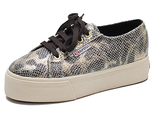 Superga Baskets pour Homme Or Dorato/Cioccolato 39 EU
