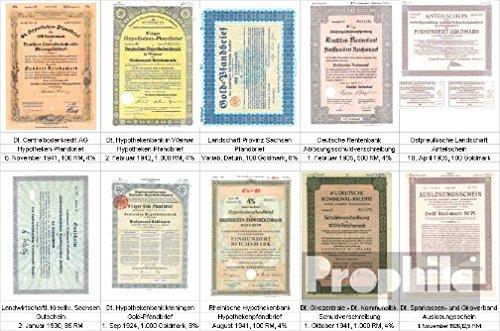 Prophila Collection Deutschland 10 verschiedene Banken Wertpapiere Nr. 10 (Hist. Wertpapiere für Sammler)