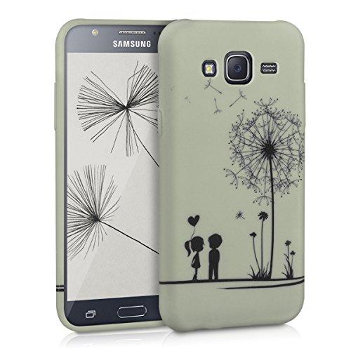 kwmobile Cover compatibile con Samsung Galaxy J5 (2015) - Custodia in silicone TPU - Back Case protezione posteriore cellulare - nero / bianco