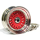 BBS Style Rot Chrom Felge Schlüsselanhänger - massiver Anhänger - von VmG-Store