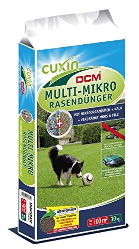 CUXIN DCM MULTI-MIKRO Rasendünger 10 kg Früjahrsdünger Rasenstarterdünger organisch