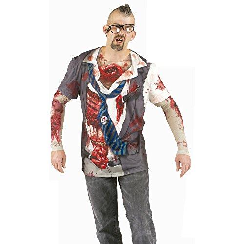 T-shirt zombie homme m Multicolore
