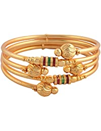 Zephyrr Gold Tone Bangle With Meenakari Beads Jewellery For Women And Girls Pair