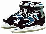 Schlittschuhe Sport Pro-Skater Gr.40/41 42/43 44/45 für Erwachsene mit Kufenschutz (44-45)