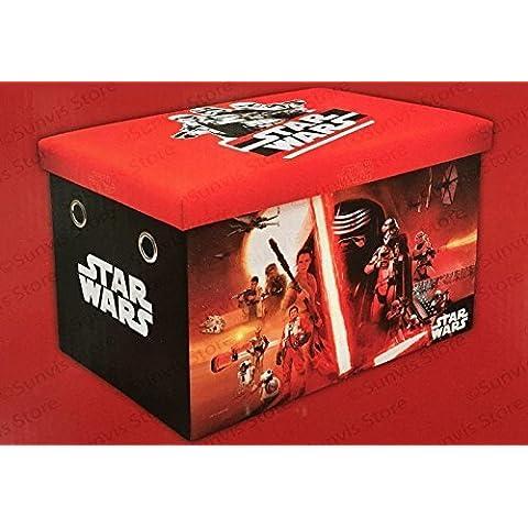 Star Wars - Banco plegable de almacenamiento con asiento, 61 cm