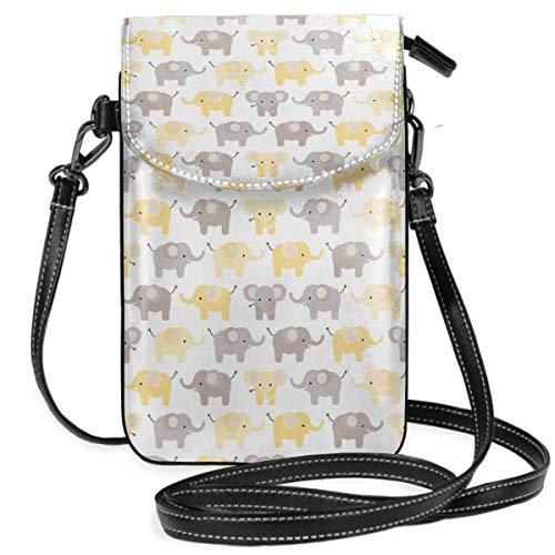 Suminla-Home Bolso bandolera para teléfono móvil, diseño de elefantes, color amarillo, con...