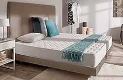 Matelas Supratex 90 x 190 cm en mousse Blue Latex® + extraits d'Aloe Vera à 7 zones de confort, Ferme