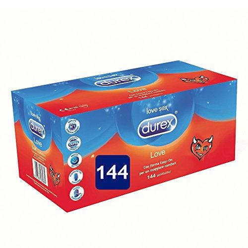 Durex Love Preservativi Giga Pack, 144 Pezzi