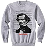 Photo de Teesquare1st Men's HECTOR BERLIOZ Grey Sweatshirt par TEESQUARE1st
