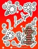 ti amo in inglese libro da colorare 20 disegni facile utilizzare decorare regalo biglietti dauguri ricordo