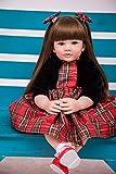 Pursue Baby Lebensechte Realistische Reborn Babypuppe mit Haaren, 60CM Echt Prinzessin Mädchen Puppe Valentina