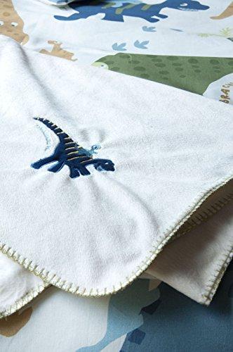 Catherine lansfield kids - coperta per letto dei bambini, motivo: dinosauri, mehrfarbig, 150 h x 120 l centimeters