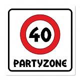 Geburtstagsschild aus Aluminium Geburtstag Deko Geschenk Verkehrsschild Partyzone - Freie Auswahl, Schildausführung:40 Jahre