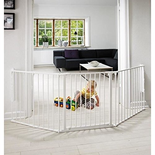 Baby Dan 56224-10400-10 Flex L Configure Cancelletto , Bianco