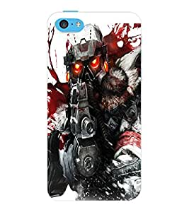 ColourCraft The Soldier Design Back Case Cover for APPLE IPHONE 5C
