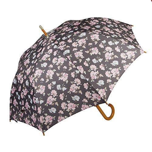 Sass & Belle Pale rosa und blau French Rose Print behandelt Stick Regenschirm