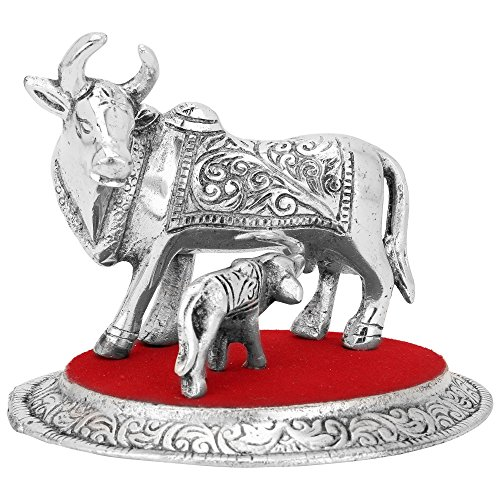 EtsiBitsi Cow and Calf, Holy Cow and Calf Statue, spiritual Showpiece Figurine_EB_Figur_018