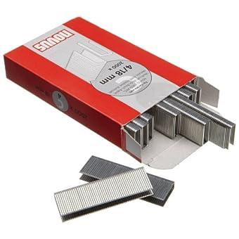 Novus 042-0594 Carton de 2000 Agrafes dos étroit 4/18 mm Rouge