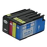 Generisch Kompatible Tintenpatronen Ersatz für HP 932XL 933XL 932 XL 933 für HP932 für HP933 für HP932XL für HP933XL Tintenpatronen Hohe Kapazität kompatibel für HP Officejet 6600 6700 6100 7612 7610 7110 Tintenpatronen für Inkjet Drucker (1 Schwarz,1 Cyan,1 Magenta, 1Gelb)