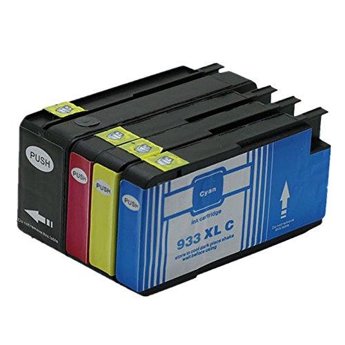 Preisvergleich Produktbild Generisch Kompatible Tintenpatronen Ersatz für HP 932XL 933XL 932 XL 933 für HP932 für HP933 für HP932XL für HP933XL Tintenpatronen Hohe Kapazität kompatibel für HP Officejet 6600 6700 6100 7612 7610 7110 Tintenpatronen für Inkjet Drucker (1 Schwarz,1 Cyan,1 Magenta, 1Gelb)