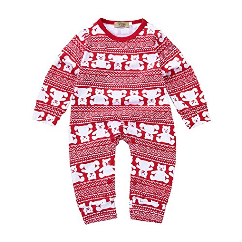 FEITONG Baby Outfits Kleinkind Xmas Bär Jungen Mädchen Romper Jumpsuit (24M, (Kind Kostüm Trenchcoat)