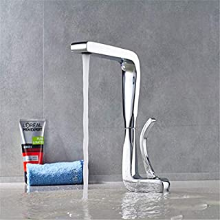 Retro Plated Hot and Cold Faucet Retromixer Faucet Vertical Deck Mounted Bathroom Brass Chrome Hot and Cold Taps