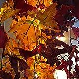 CHRISTY HARRELL Simulation Maple Leaf, Thanksgiving Leaves Maple Leaf Rattan Festival Halloween...