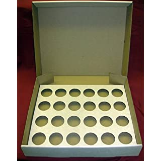 10 x Strong Cupcake Muffin Mince Pie Fairy Cake Box in White, holds 24 Cupcakes per Box, Manufactured by AVM