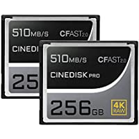 Cinediskpro® CFast 2.0Carte mémoire 4K Raw 512Go Match Lot (2pcs) (Blackmagic Design URSA Mini Pro 4K 4.6K | Canon 1DX Mark II C200C300C700| Hasselblad H6d-50C H6d-100C | Phantom VEO S)