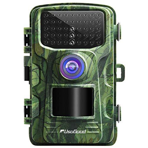 """usogood Wildkamera 14MP 1080P mit Bewegungsmelder Nachtsicht No Glow IP66 Spray wasserdicht 2.4\"""" LCD für Outdoor-Natur, Garten, Haussicherheitsüberwachung"""