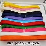 Generic SA2530 8 : 1pcs Free Shipping 2. 5cm x 33M horsehair Polyester fabric Flat Plain Crinoline Braid Mesh Ribbon For Women #12Color