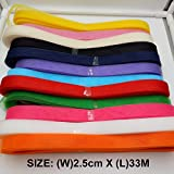 Generic SA2530 8 : 1pcs Free Shipping 2. 5cm x 33M horsehair Polyester fabric Flat Plain Crinoline Braid Mesh Ribbon For Women #12Color