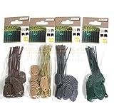 ESTEXO Befestigungsclips, Befestigungs Set, Draht für PVC Sichtschutzmatten, Sichtschutz (25, Bambus)