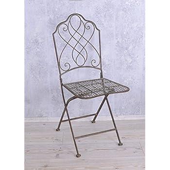 Metallstuhl Klappstuhl Gartenstuhl Vintage Stuhl Eisen Antik Palazzo  Exklusiv